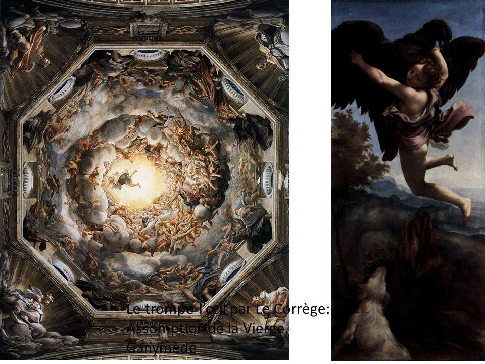 Le trompe-l'œil par Le Corrège: Assomption de la Vierge, Ganymède
