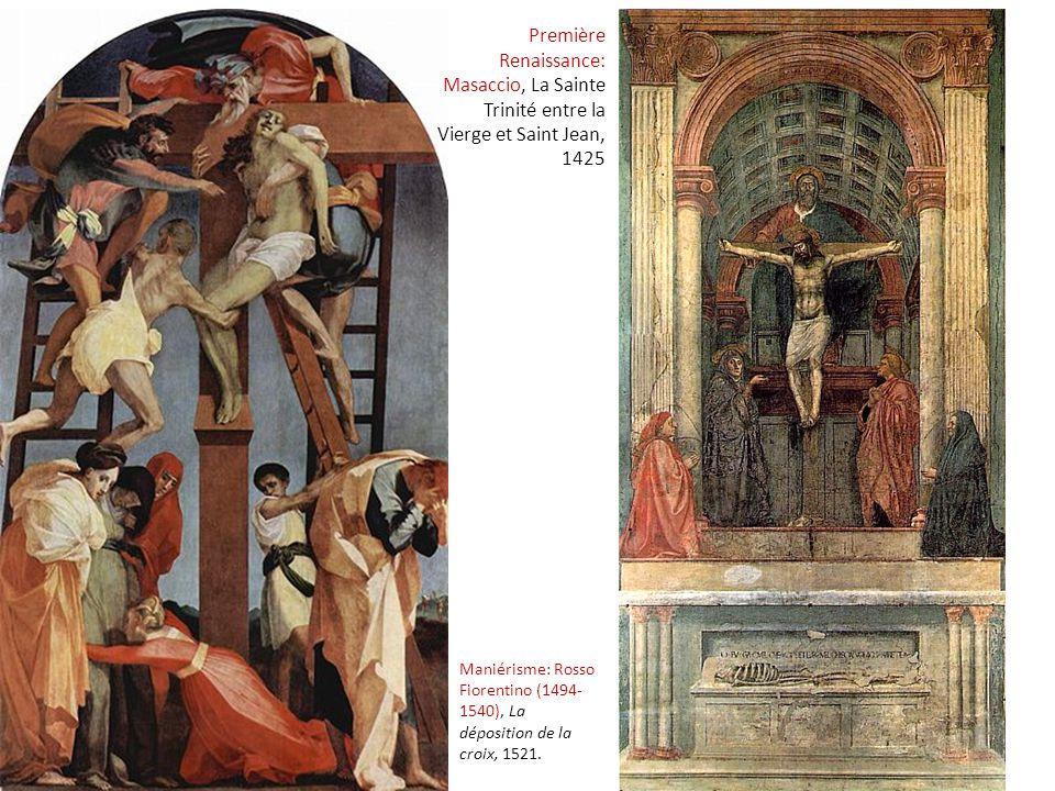 Première Renaissance: Masaccio, La Sainte Trinité entre la Vierge et Saint Jean, 1425
