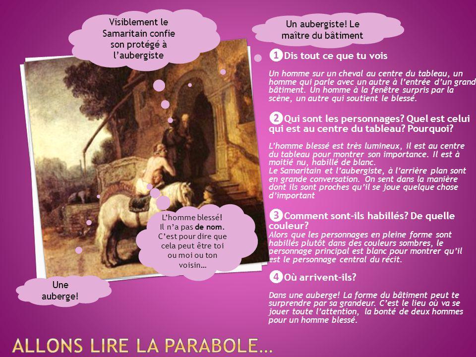 Allons lire la Parabole…