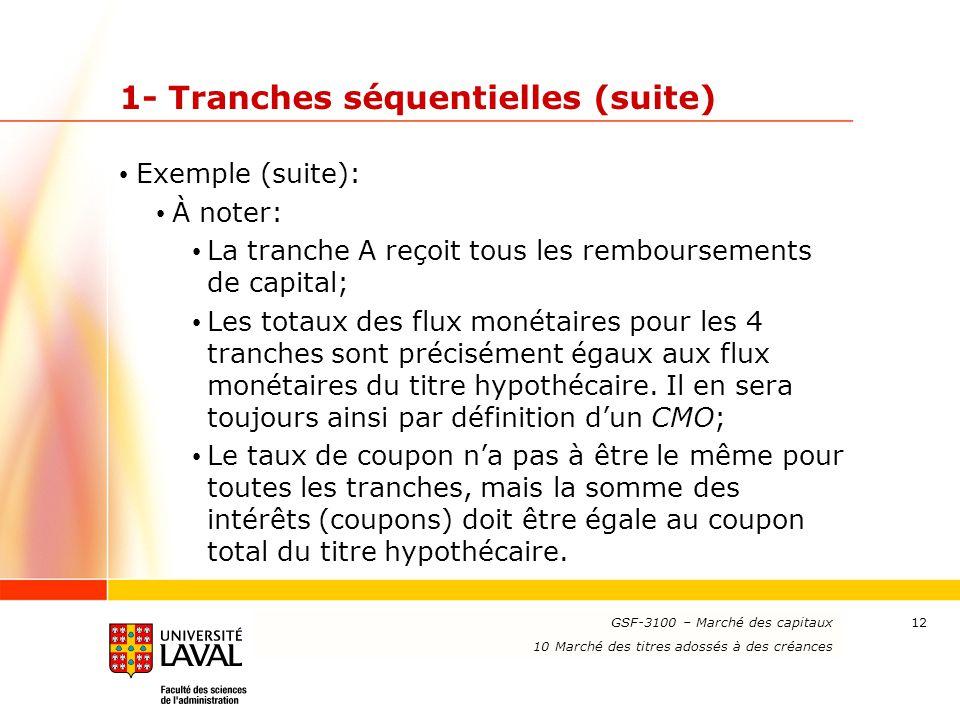 1- Tranches séquentielles (suite)