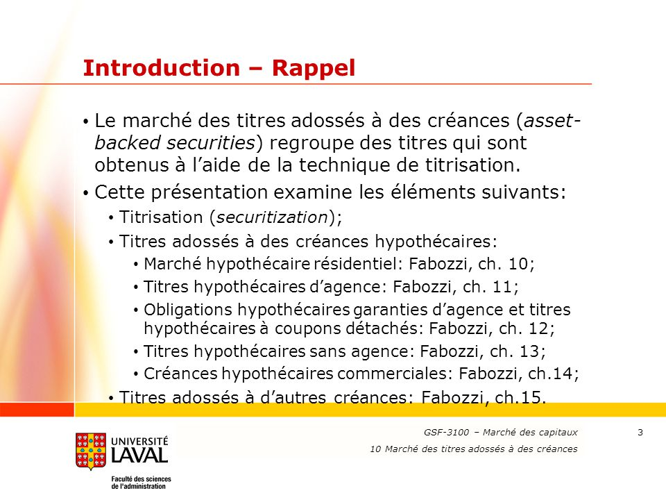Introduction – Rappel