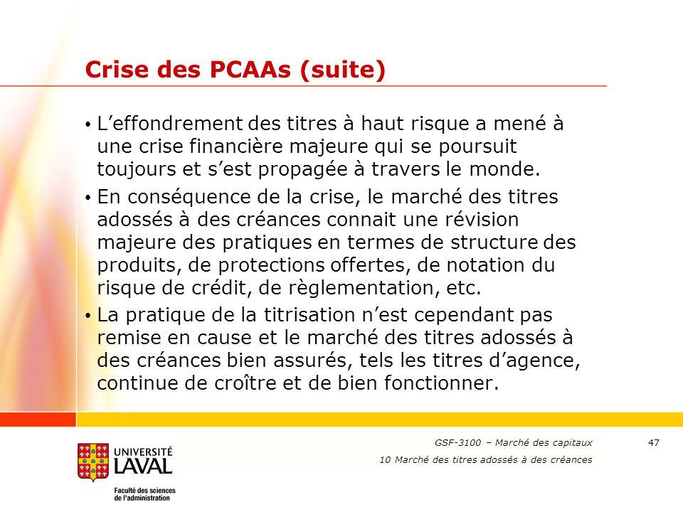 Crise des PCAAs (suite)