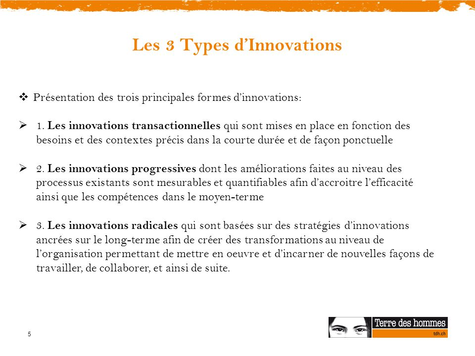Les 3 Types d'Innovations