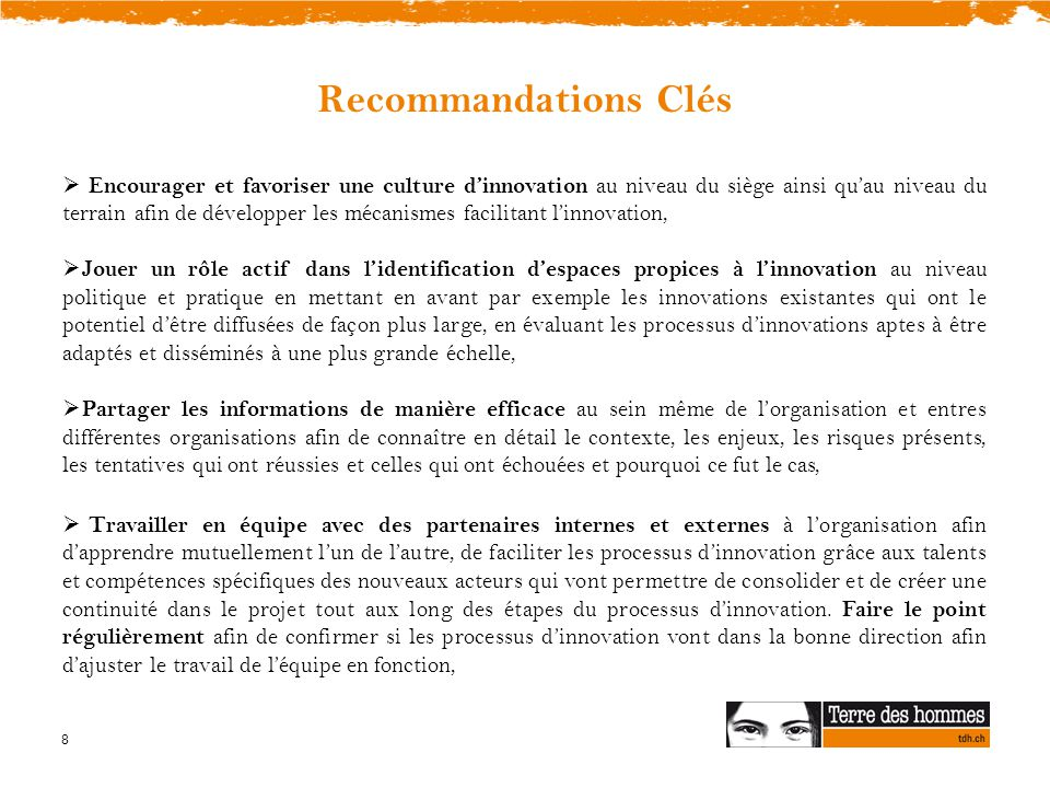 Recommandations Clés