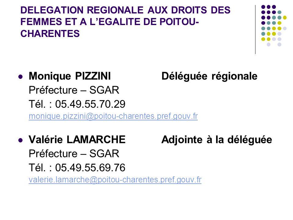 Monique PIZZINI Déléguée régionale Préfecture – SGAR