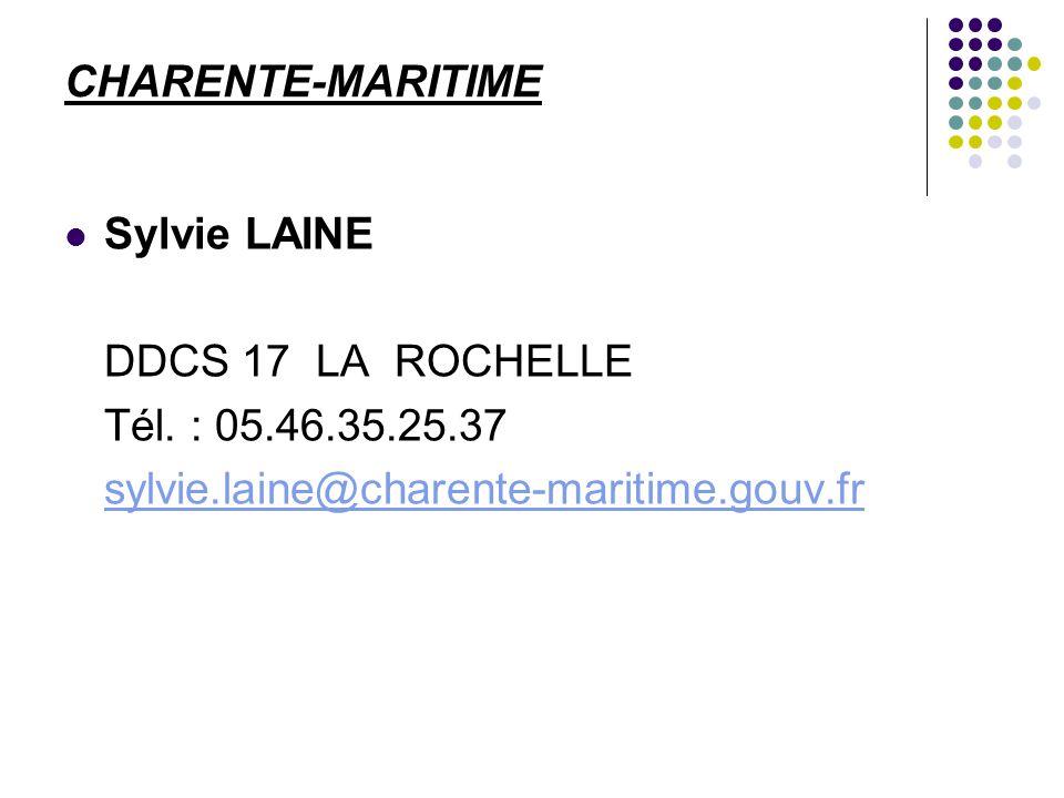 CHARENTE-MARITIME Sylvie LAINE. DDCS 17 LA ROCHELLE.