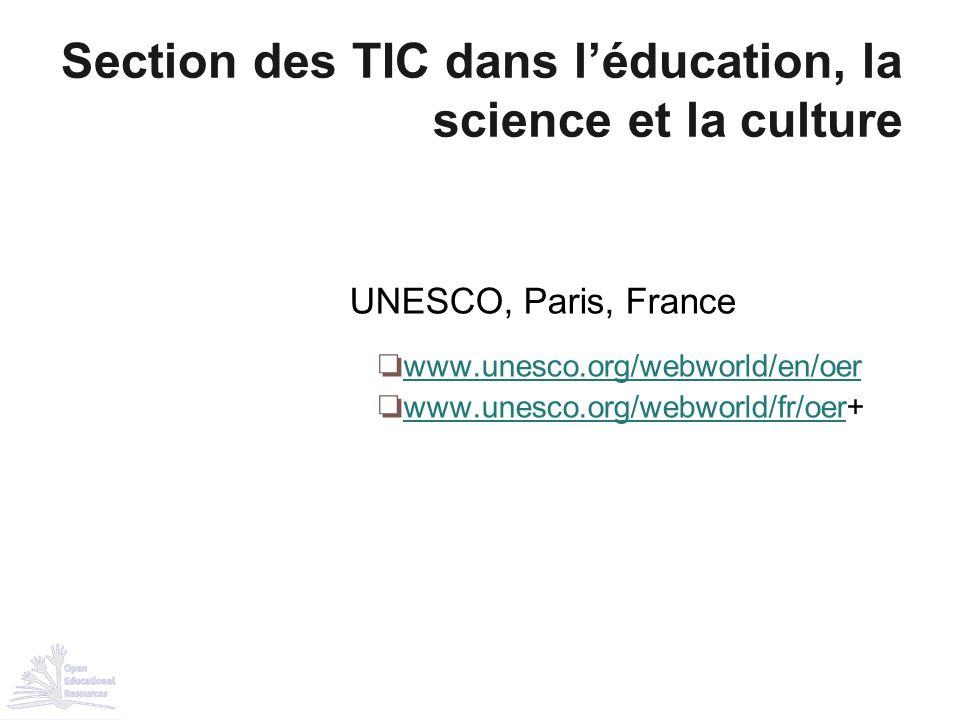 Section des TIC dans l'éducation, la science et la culture