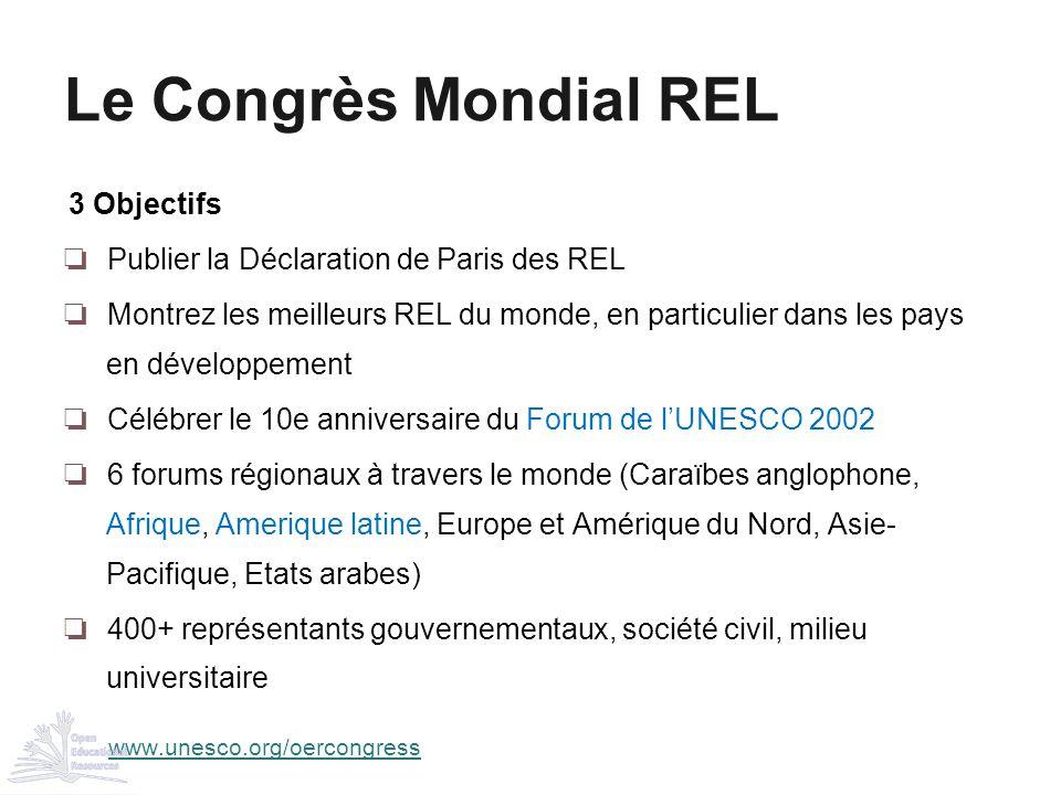 Le Congrès Mondial REL 3 Objectifs