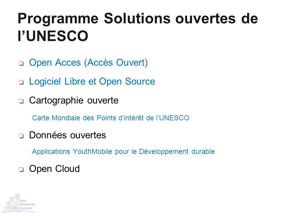 Programme Solutions ouvertes de l'UNESCO