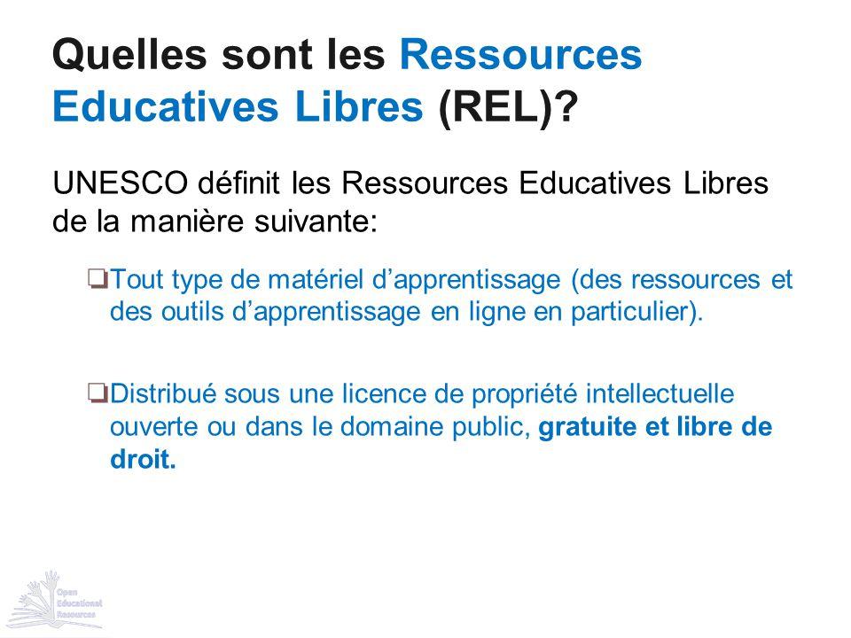 Quelles sont les Ressources Educatives Libres (REL)