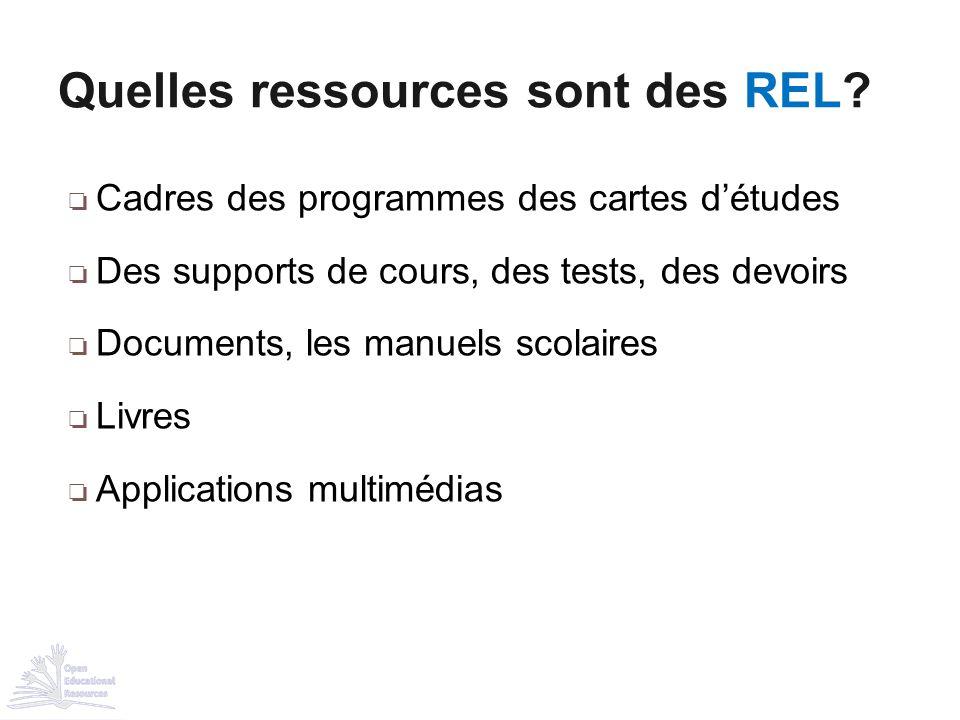 Quelles ressources sont des REL