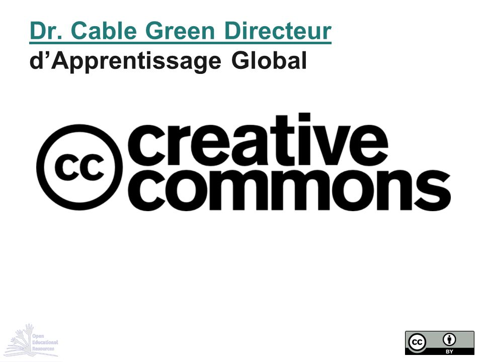 Dr. Cable Green Directeur d'Apprentissage Global