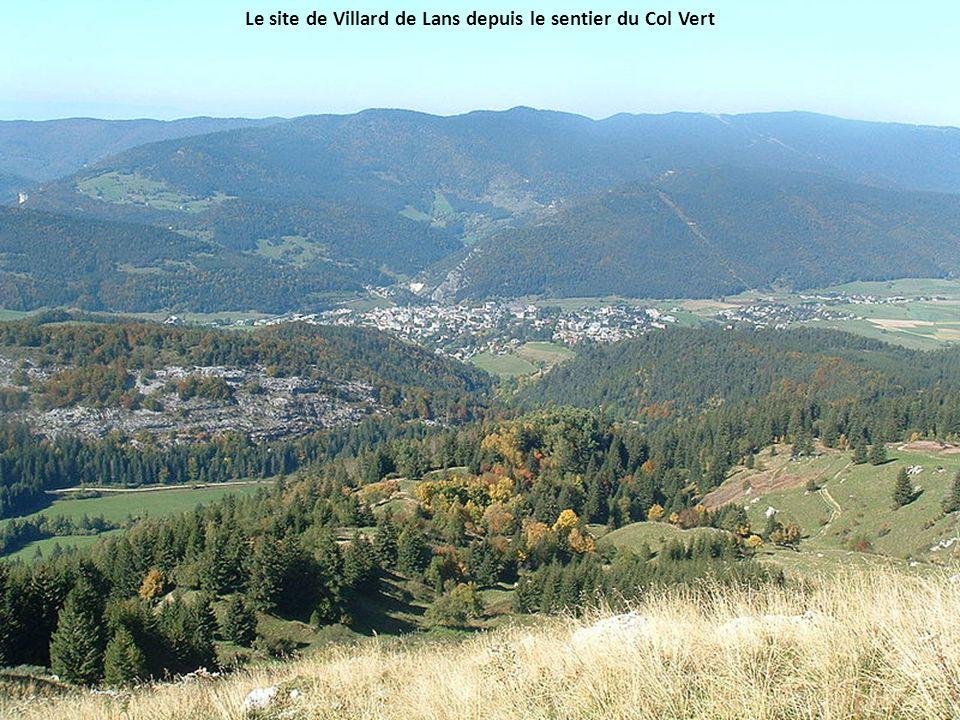 Le site de Villard de Lans depuis le sentier du Col Vert