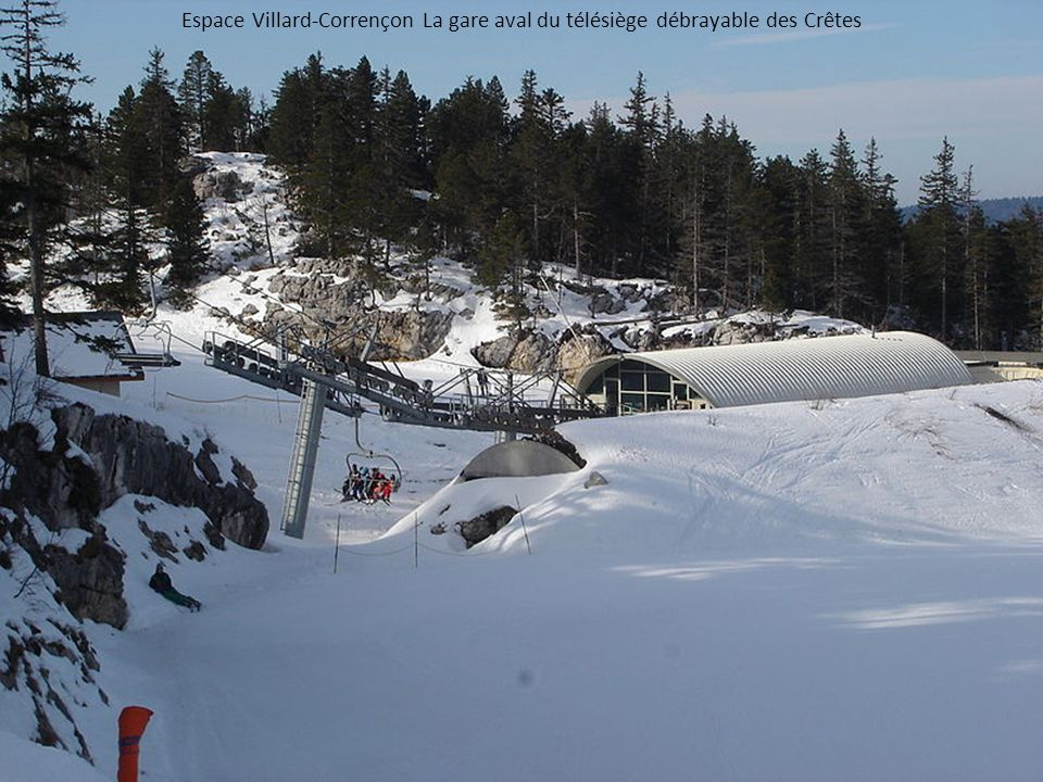 Espace Villard-Corrençon La gare aval du télésiège débrayable des Crêtes