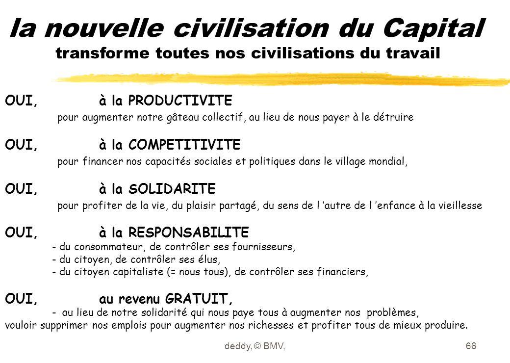 la nouvelle civilisation du Capital transforme toutes nos civilisations du travail