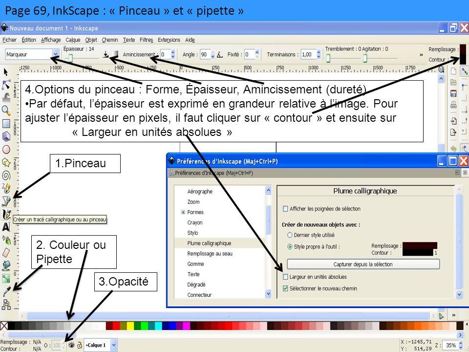 Page 69, InkScape : « Pinceau » et « pipette »
