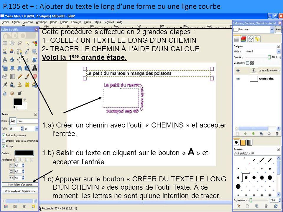 P.105 et + : Ajouter du texte le long d'une forme ou une ligne courbe