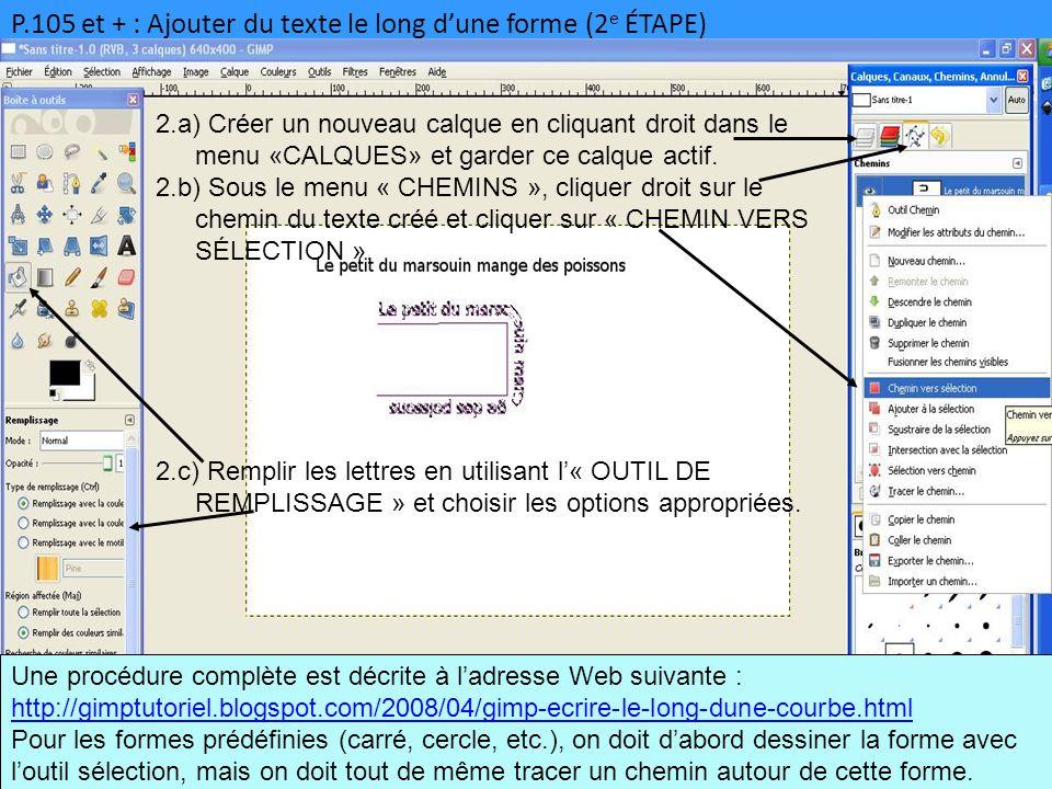 P.105 et + : Ajouter du texte le long d'une forme (2e ÉTAPE)