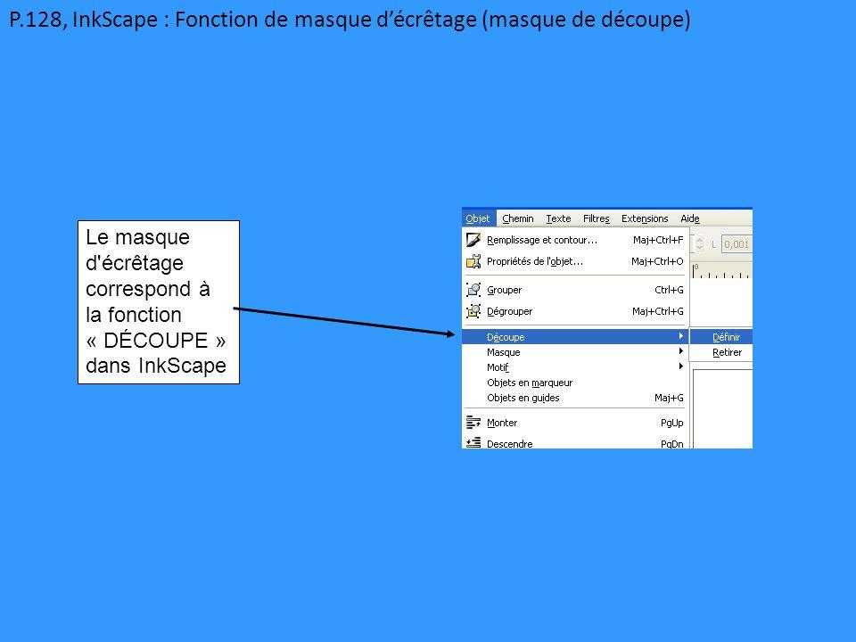 P.128, InkScape : Fonction de masque d'écrêtage (masque de découpe)