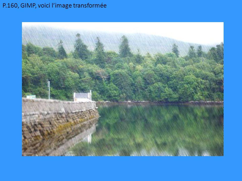 P.160, GIMP, voici l'image transformée