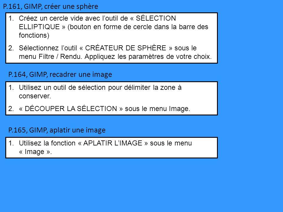 P.164, GIMP, recadrer une image