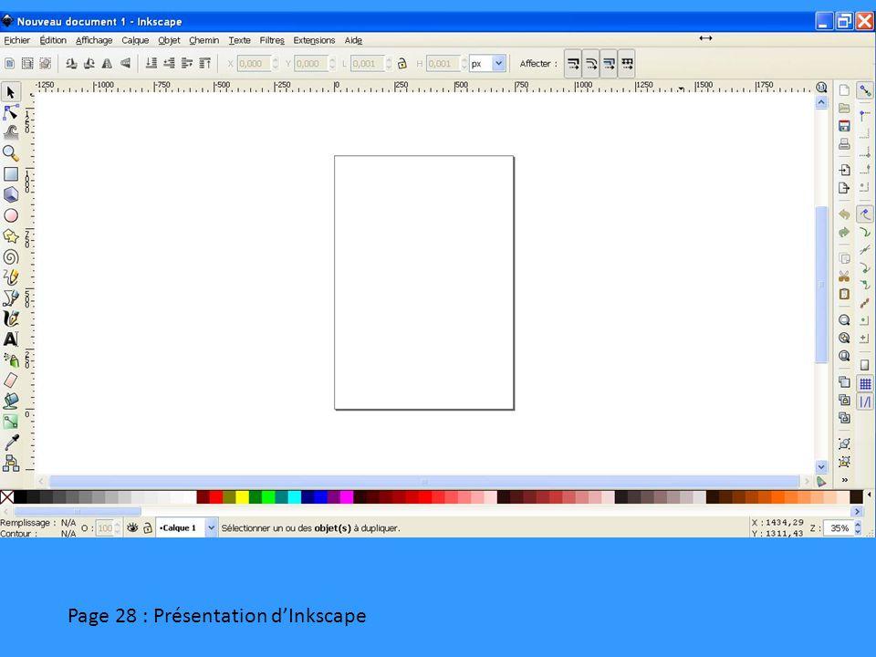 Page 28 : Présentation d'Inkscape