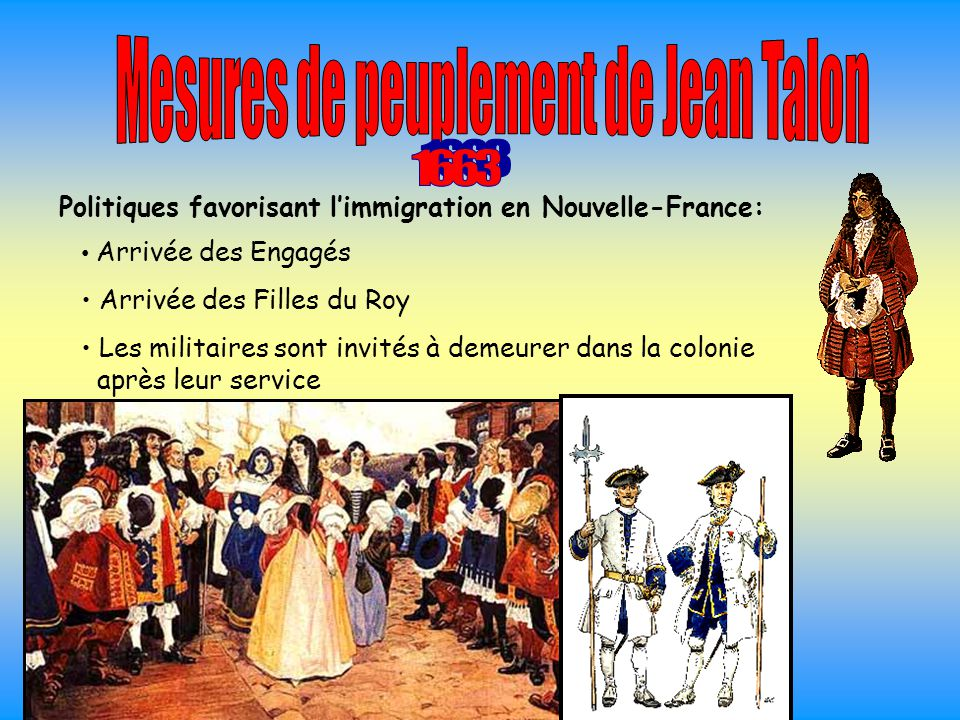 Mesures de peuplement de Jean Talon