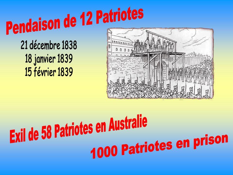 Pendaison de 12 Patriotes