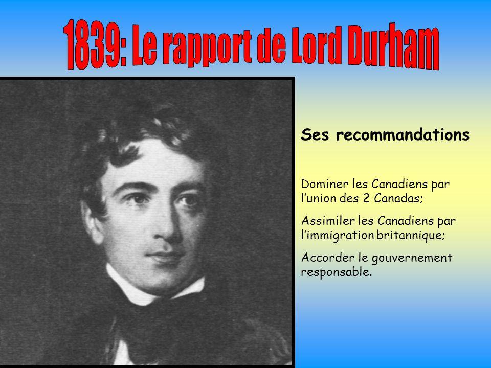 1839: Le rapport de Lord Durham