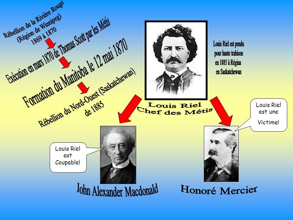 Rébellion de la Rivière Rouge (Région de Winnipeg) 1869 à 1870