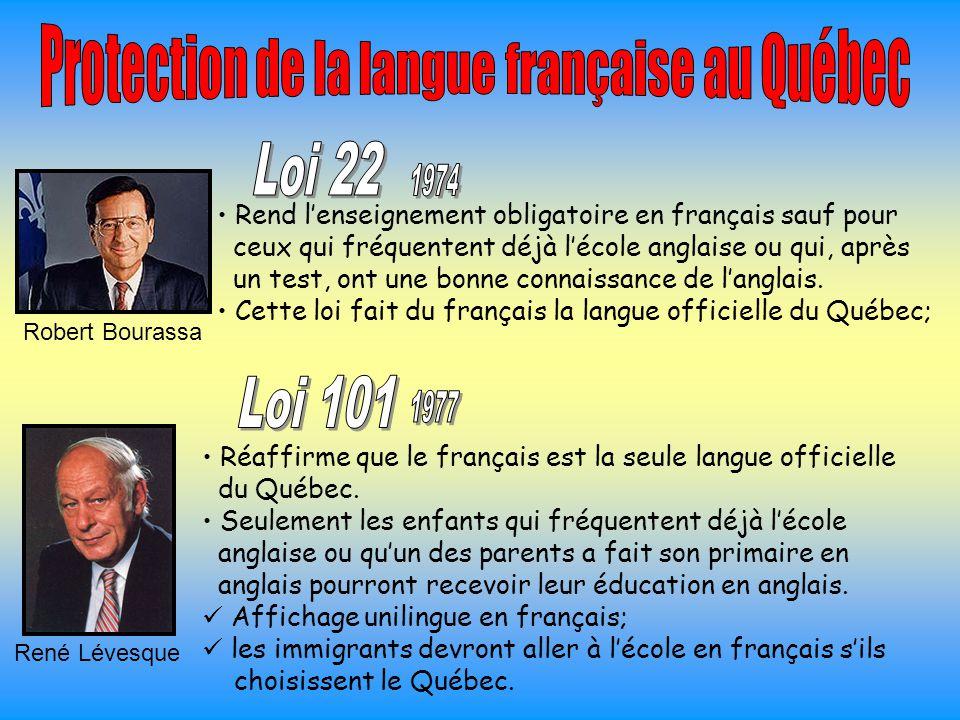Protection de la langue française au Québec