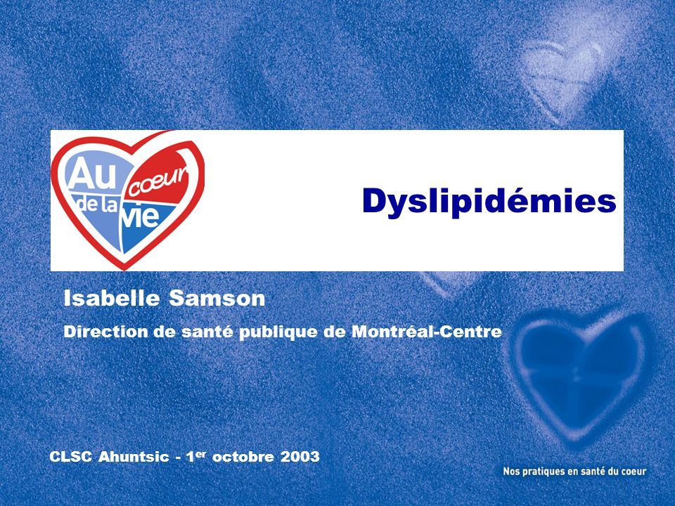 CLSC Ahuntsic - 1er octobre 2003
