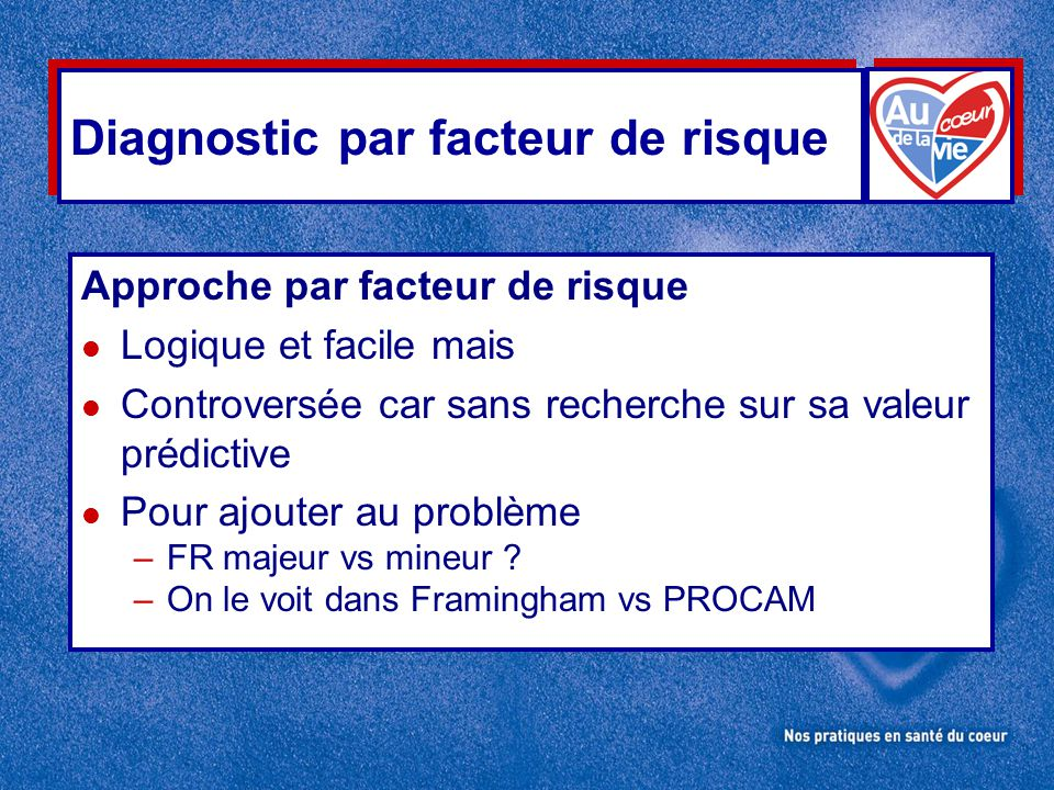 Diagnostic par facteur de risque