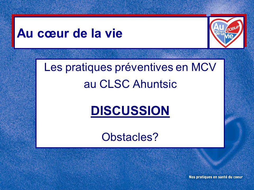 Les pratiques préventives en MCV