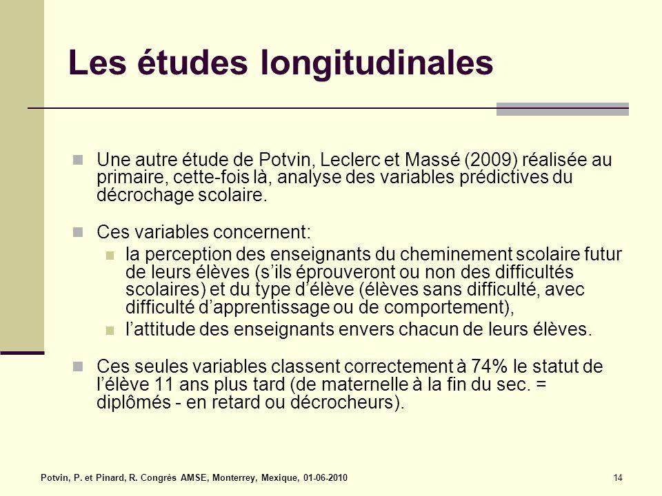 Les études longitudinales