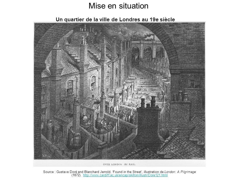 Mise en situation Un quartier de la ville de Londres au 19e siècle