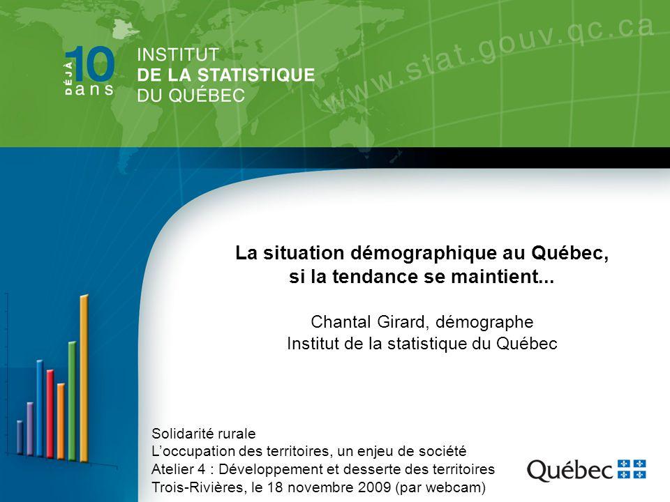 La situation démographique au Québec, si la tendance se maintient...