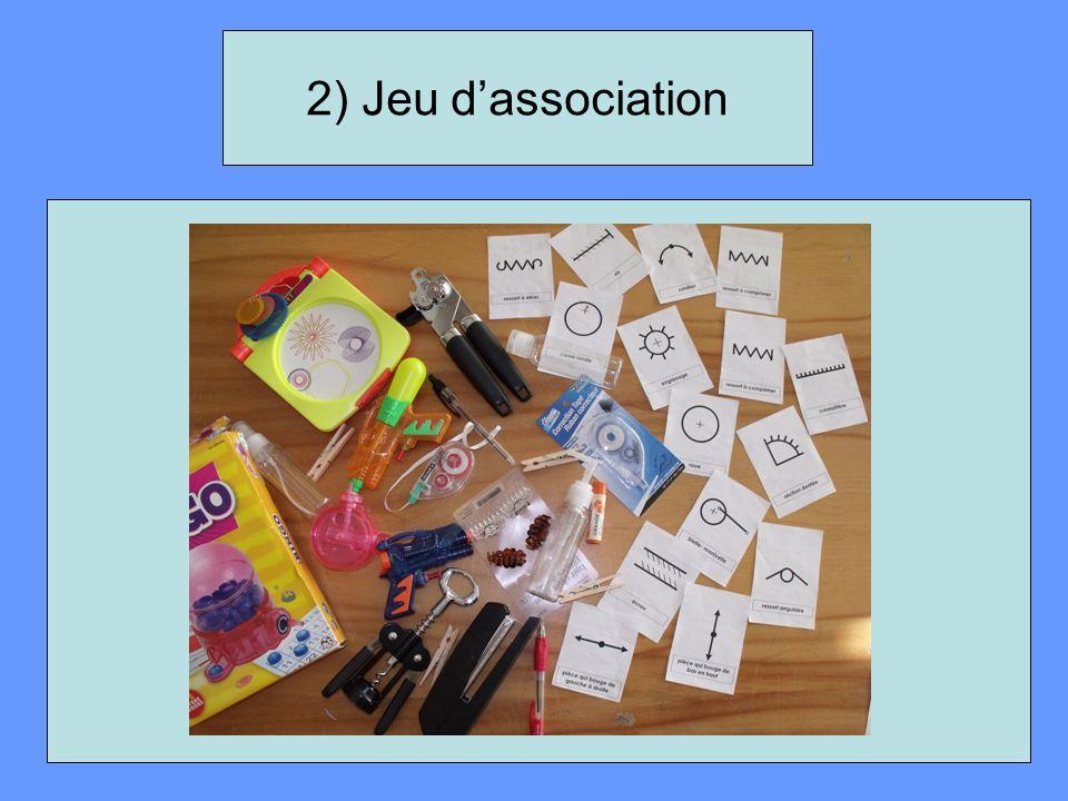 2) Jeu d'association