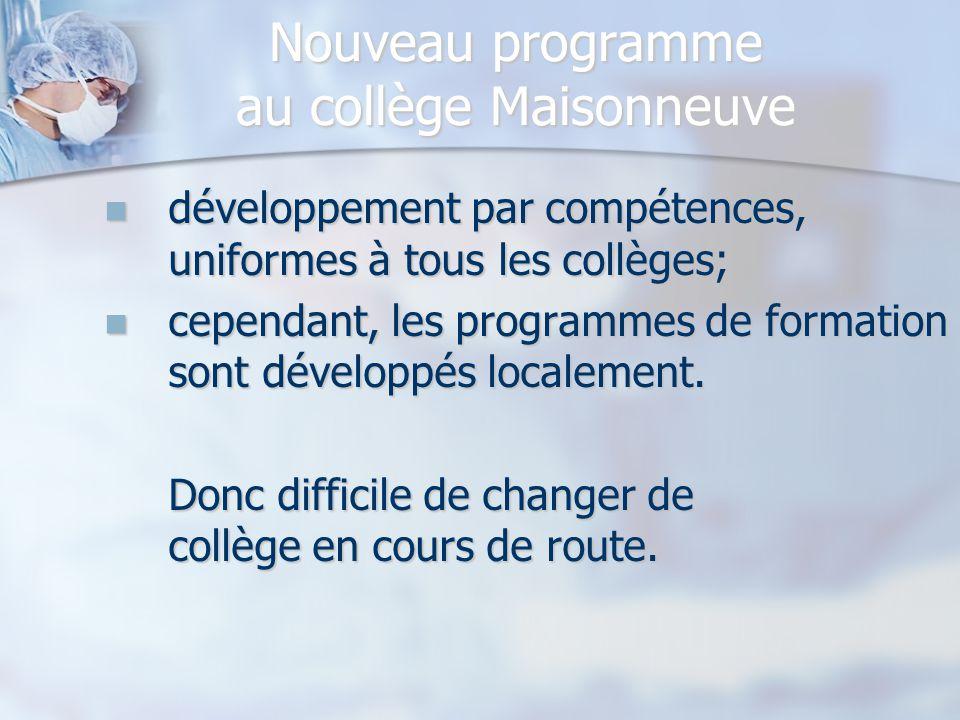 Nouveau programme au collège Maisonneuve
