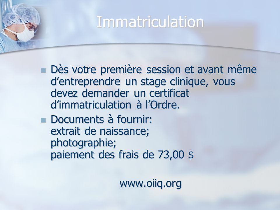 Soins infirmiers dec 180 a0 ppt video online t l charger for Extrait immatriculation chambre des metiers