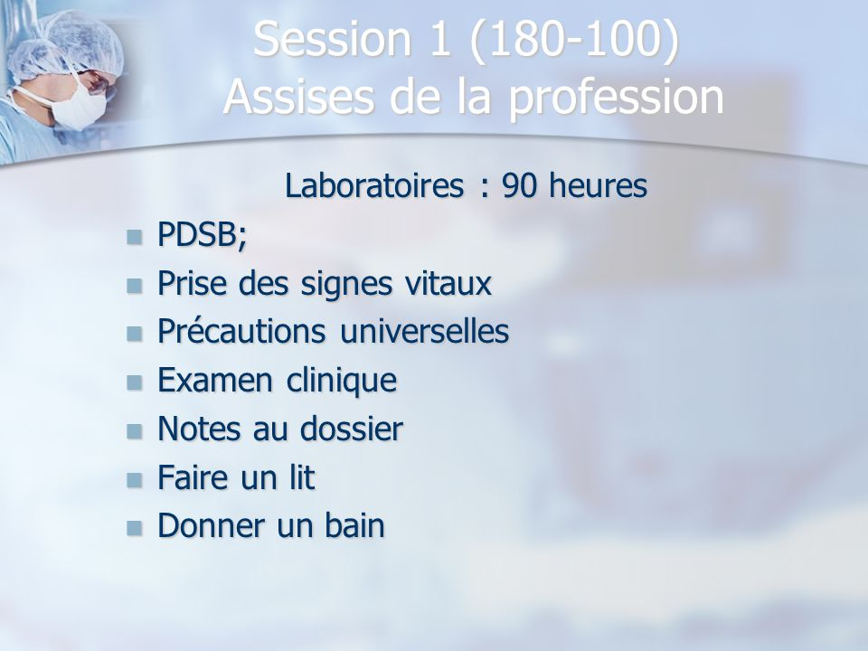 Session 1 (180-100) Assises de la profession