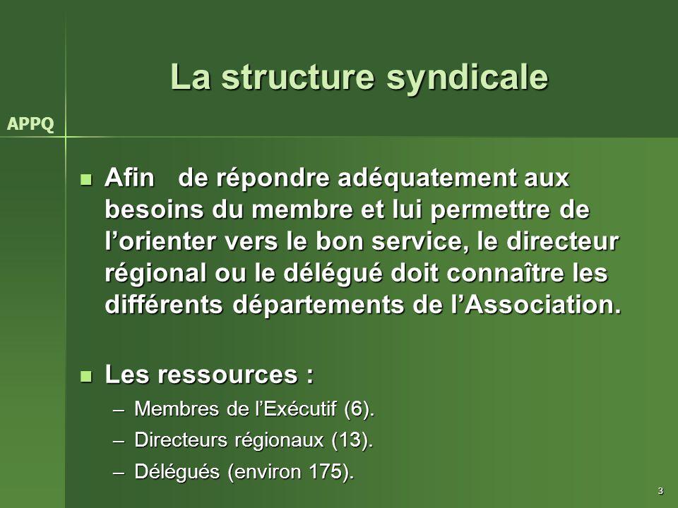 La structure syndicale