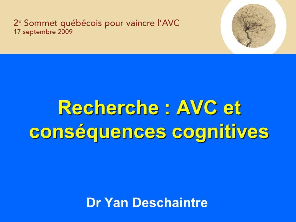 Recherche : AVC et conséquences cognitives