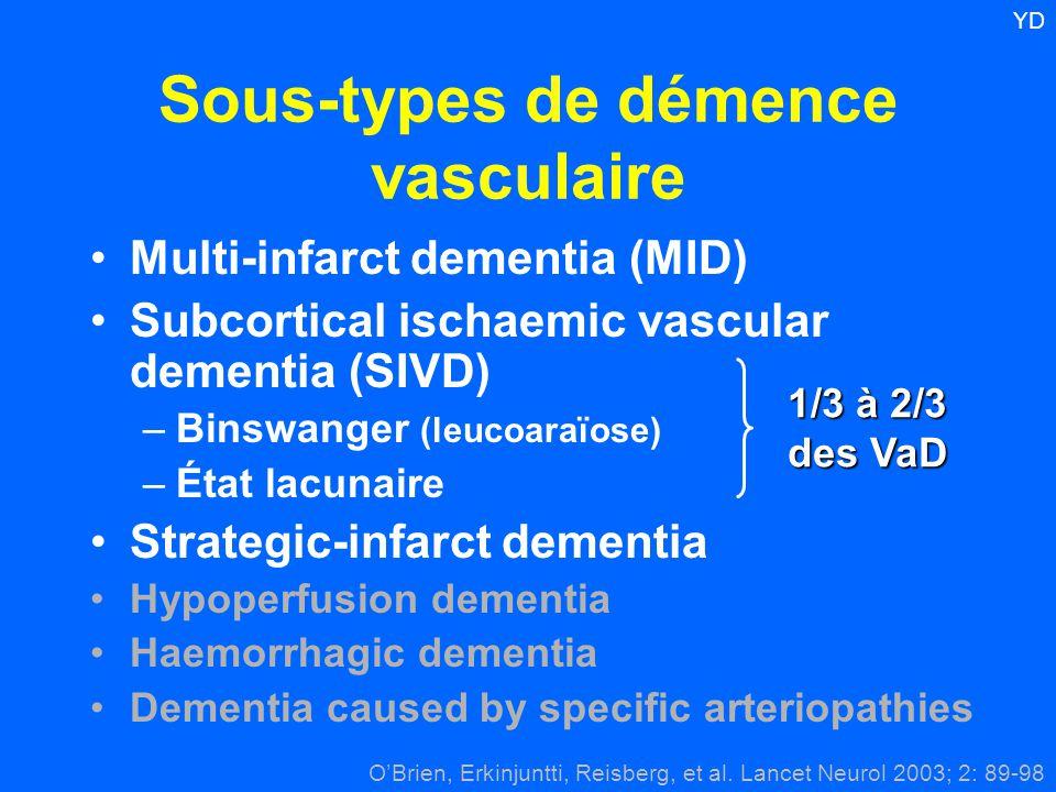 Sous-types de démence vasculaire