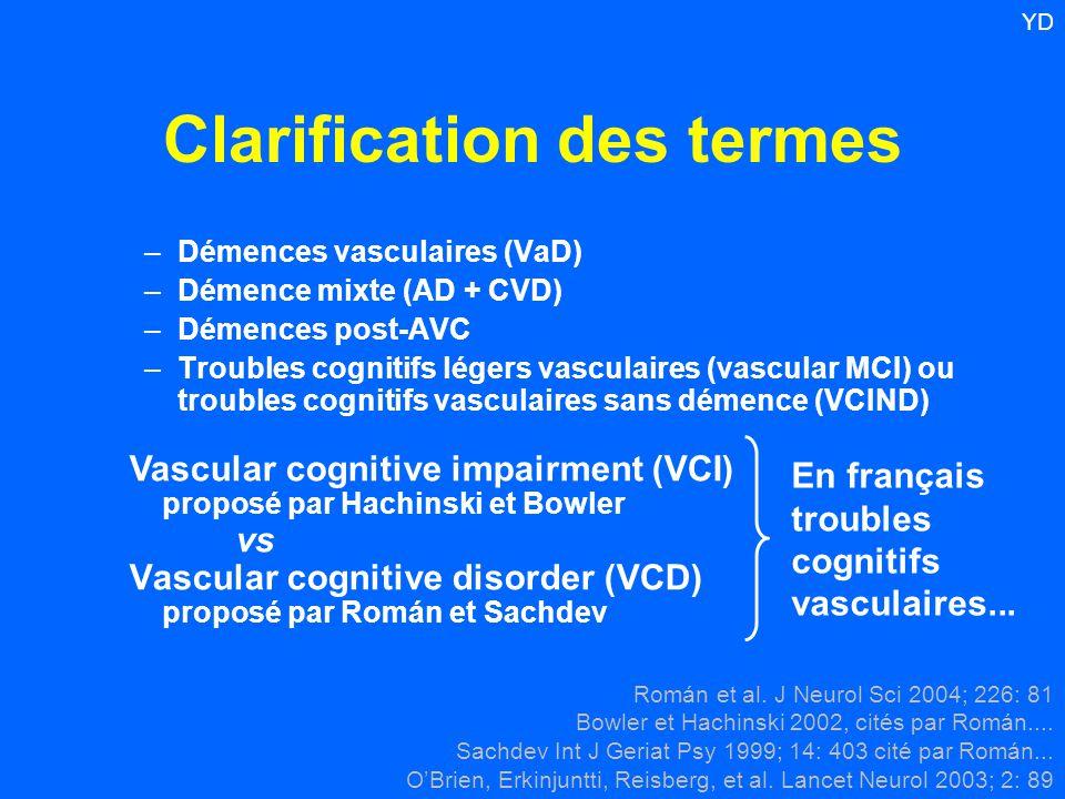Clarification des termes