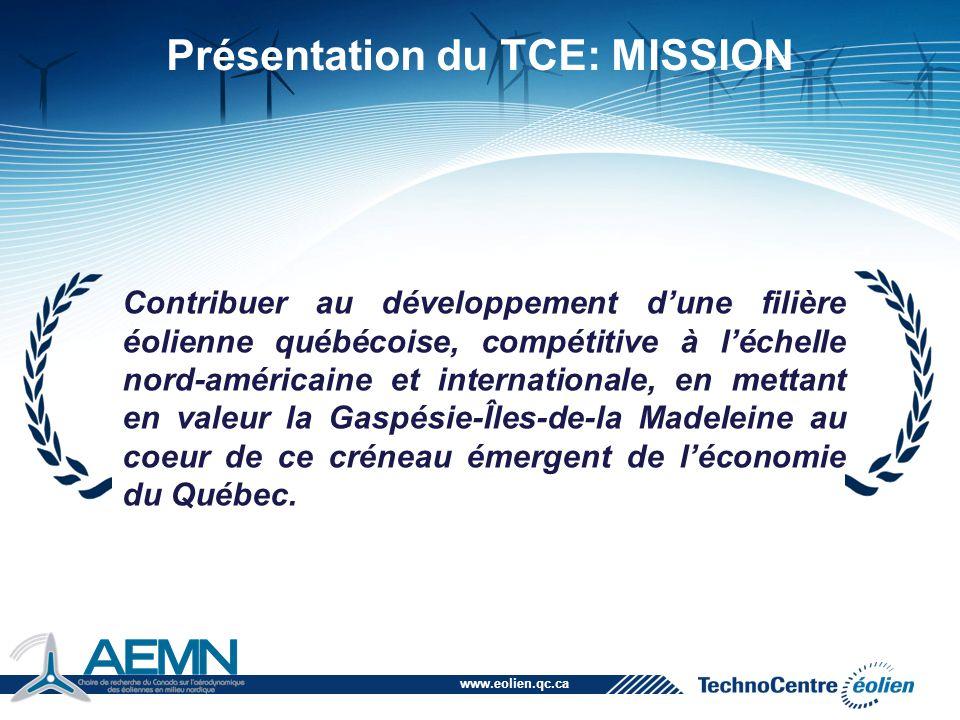 Présentation du TCE: MISSION