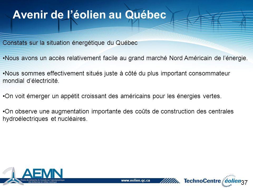 Avenir de l'éolien au Québec