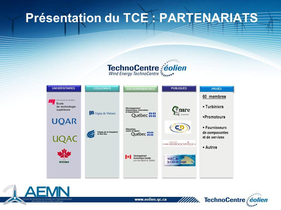 Présentation du TCE : PARTENARIATS
