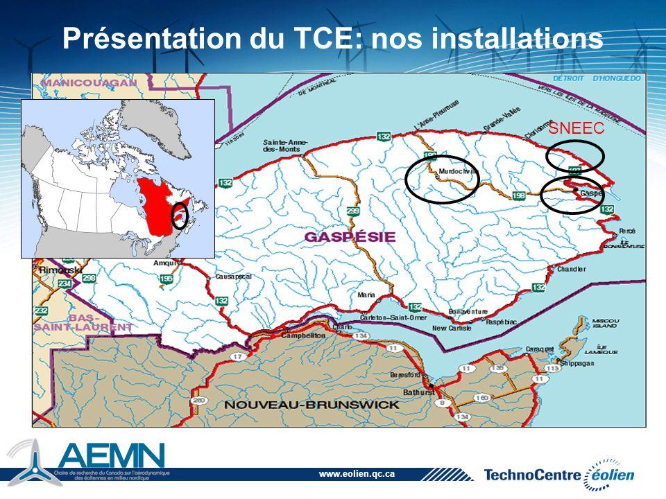 Présentation du TCE: nos installations
