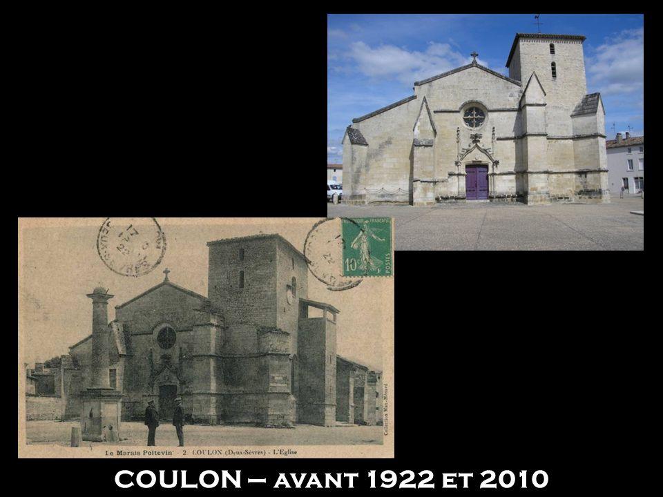 COULON – avant 1922 et 2010